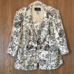 ❤️ Dressy Alex Evenings 2 piece Jacket & Shell